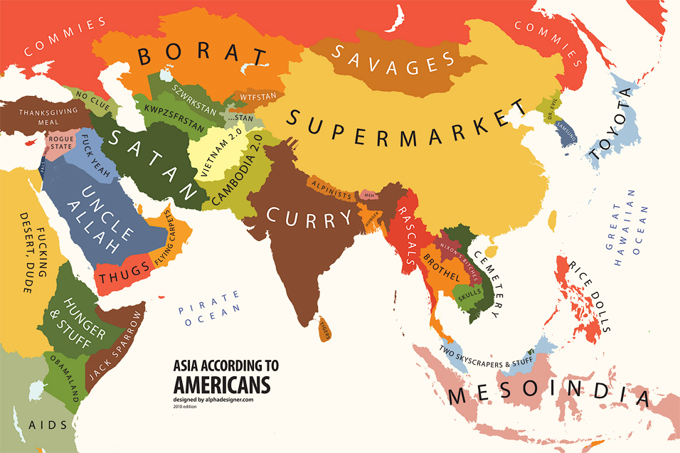 How America Sees The World Map.Mapping Stereotypes By Alphadesigner Nf Noobs Forever Game